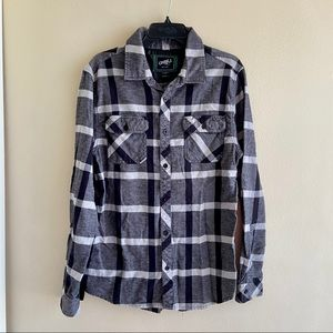 Mens [O'Niell] Plaid Button Up Long Sleeve Flannel